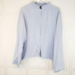 Eileen Fisher | 1 button top long sleeve
